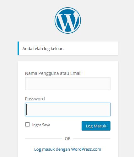 dasboard wordpress