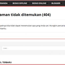 cara mengatasi halaman tidak di temukan 404