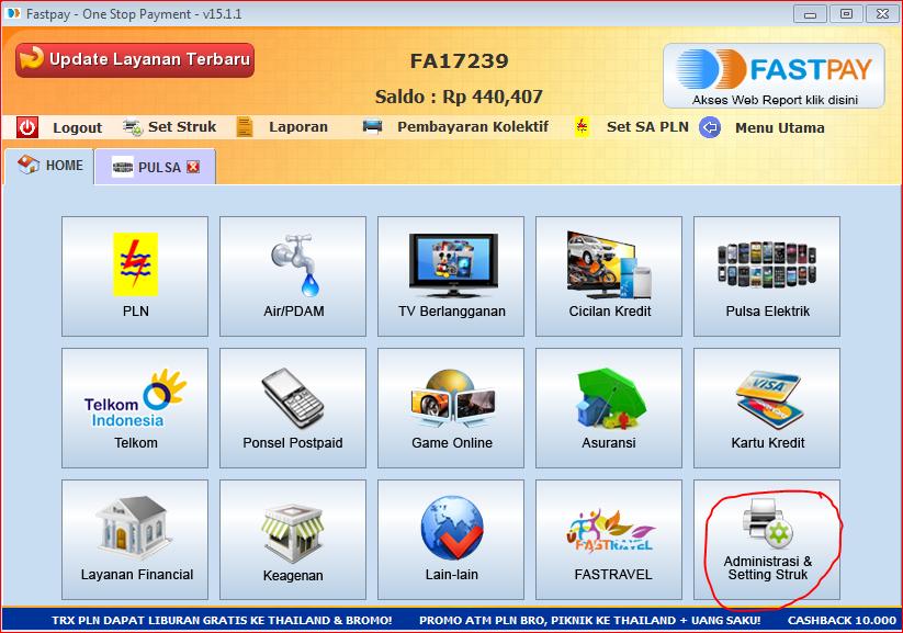 Cara melakukan deposit menggunakan internet banking di fastpay
