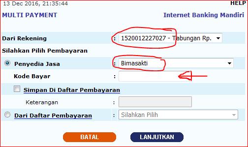 Cara deposit menggunakan internet banking mandiri