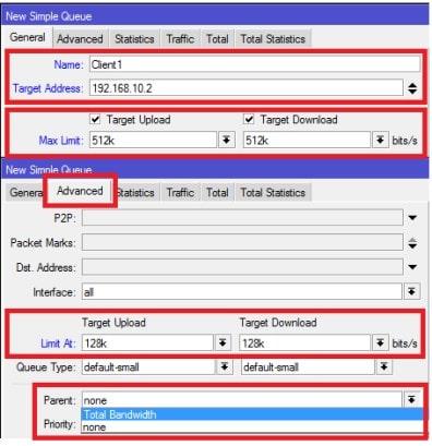 cara membagi rata bandwidth