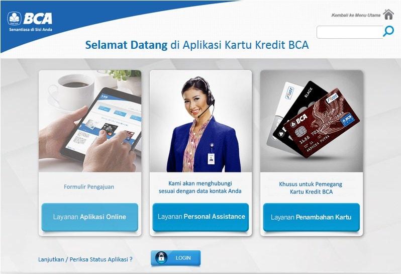 cara membuat kartu kredit bca online