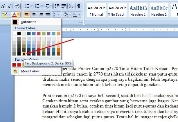 Cara Memperbaiki Printer Canon ip2770 Tinta Hitam Tidak Keluar