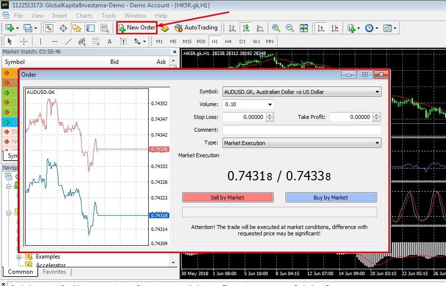 cara pasang indikator MA, MACD, Stockhastik