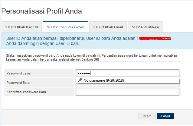 cara daftar internet banking bri melalui atm dan cs