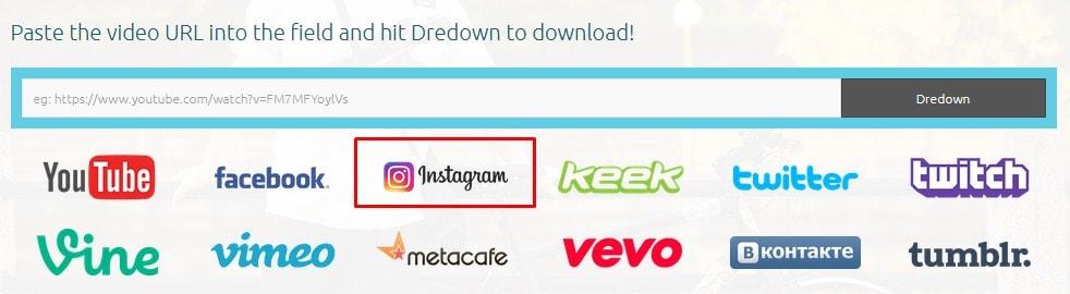 cara download video di instagram melalui dredown