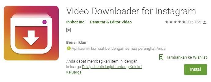 download video di instagram dapat menggunakan aplikasi downloader instagram
