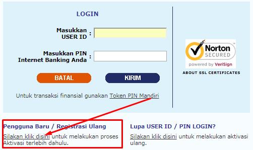 daftar ib banking mandiri