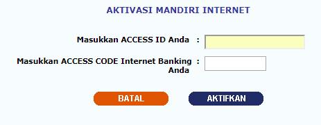 aktivasi i banking mandiri