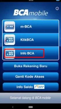 cara mengetahui nomor rekening bca lewat bca mobile