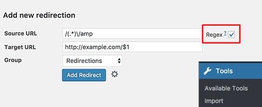 cara pakai plugin redirection pada amp yang di nonaktifkan