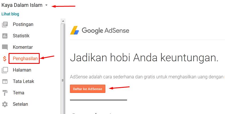 Cara Menambahkan Situs Blogspot Ke Akun Google Adsense Yang Beda Email