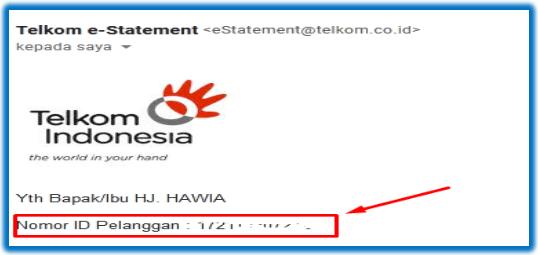 cara mengetahui nomor indihome lewat email