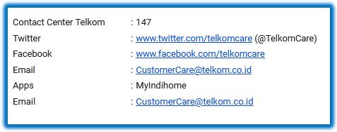salah satu cara mengetahui nomor indihome melalui call center atau akun media sosial telkom
