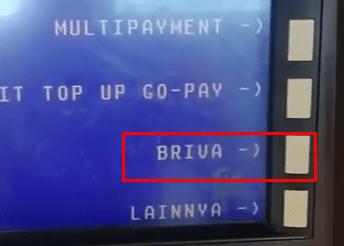 pilih menu BRIVA