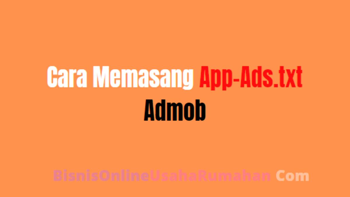pasang app-ads.txt