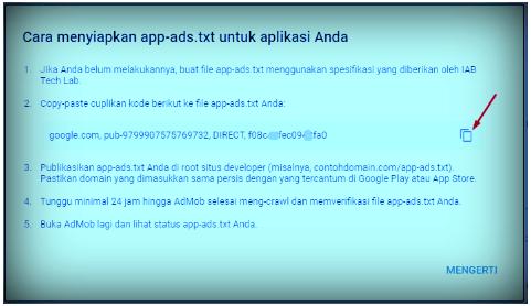cara menyiapkan file app-ads.txt