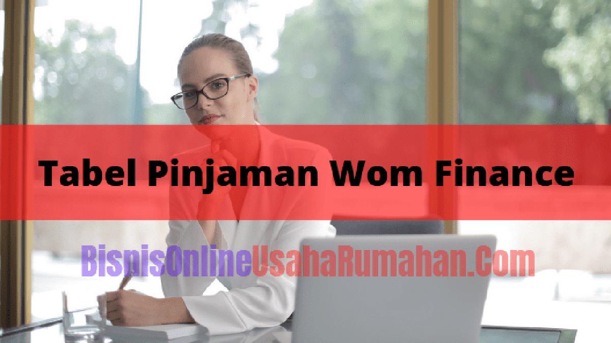Tabel Pinjaman Wom Finance Terbaru Serta Syaratnya