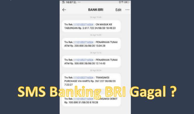 kenapa transaksi sms banking bri gagal