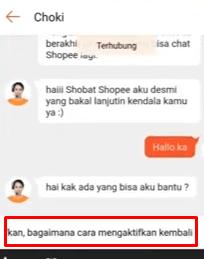 chating dengan cs shopee