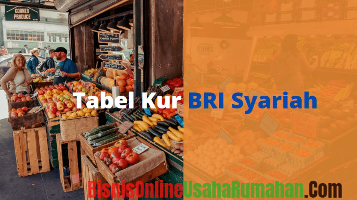 Tabel Kur Bri Syariah terbaru