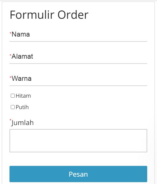 cara membuat formulir order di whatsapp
