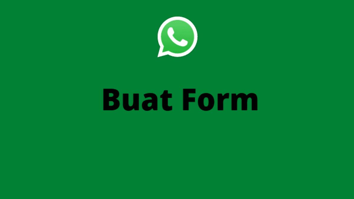 panduan membuat form order di whatsapp