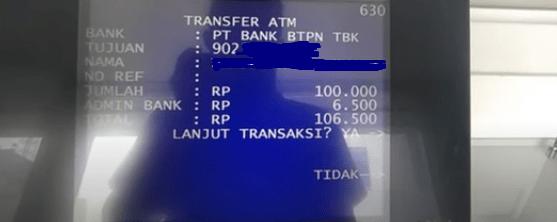 cara transfer bri ke BTPN