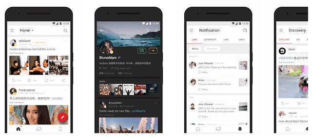 cara daftar weibo melalui hp android