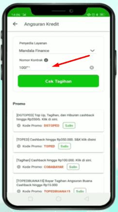 cara cek tagihan mandala finance