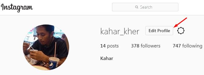 pilih kemudian edit profil untuk mengubah nama pengguna