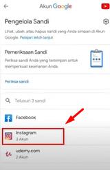 Tap aplikasi IG, dan masukkan metode verifikasi untuk buka halaman